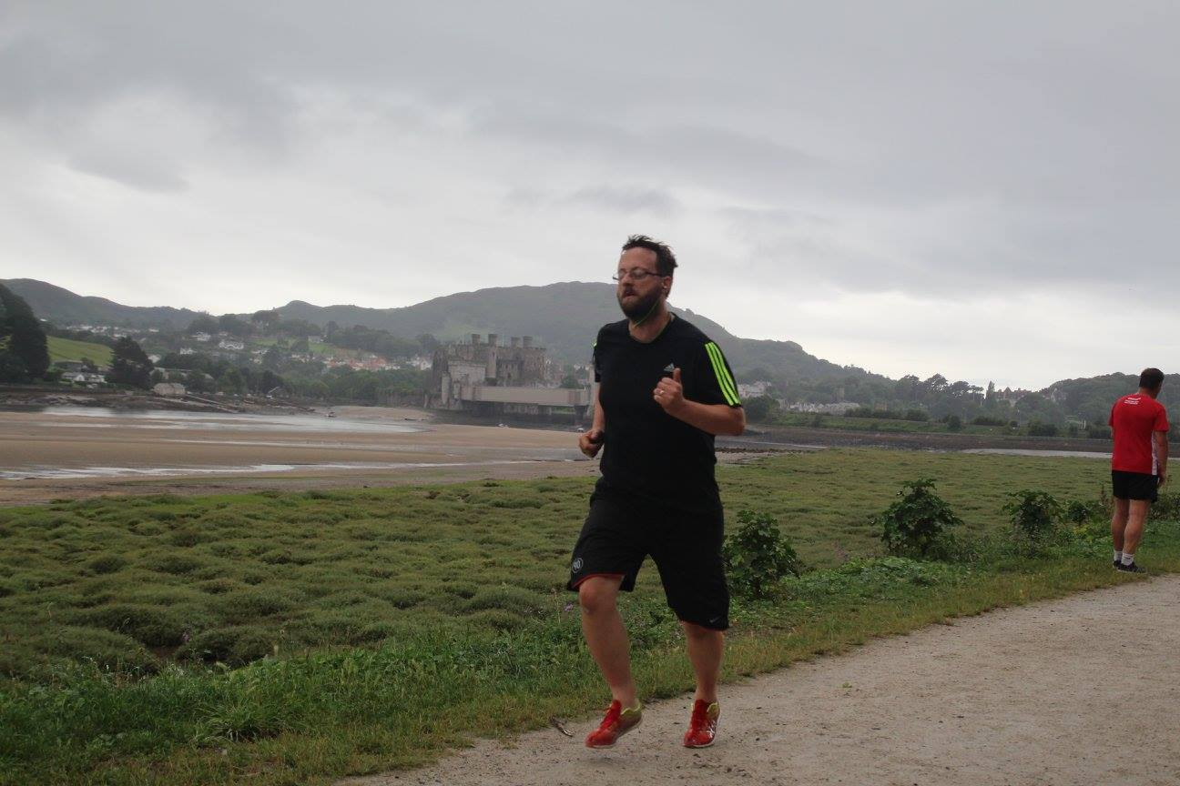 Andy Thomas, training for the London Marathon