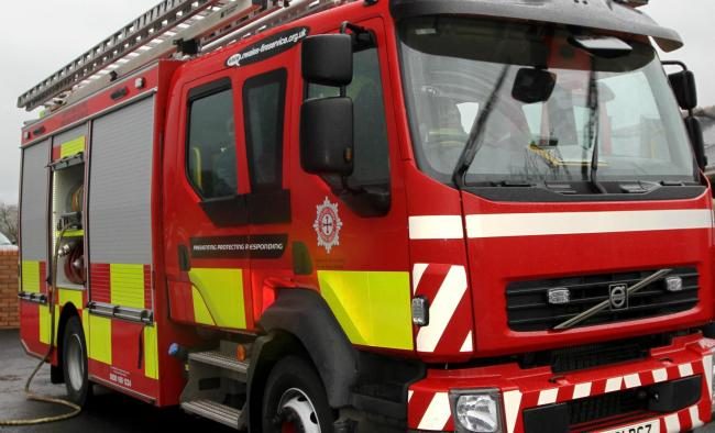 Firefighters dealt with the incident in Rhuddlan this morning.