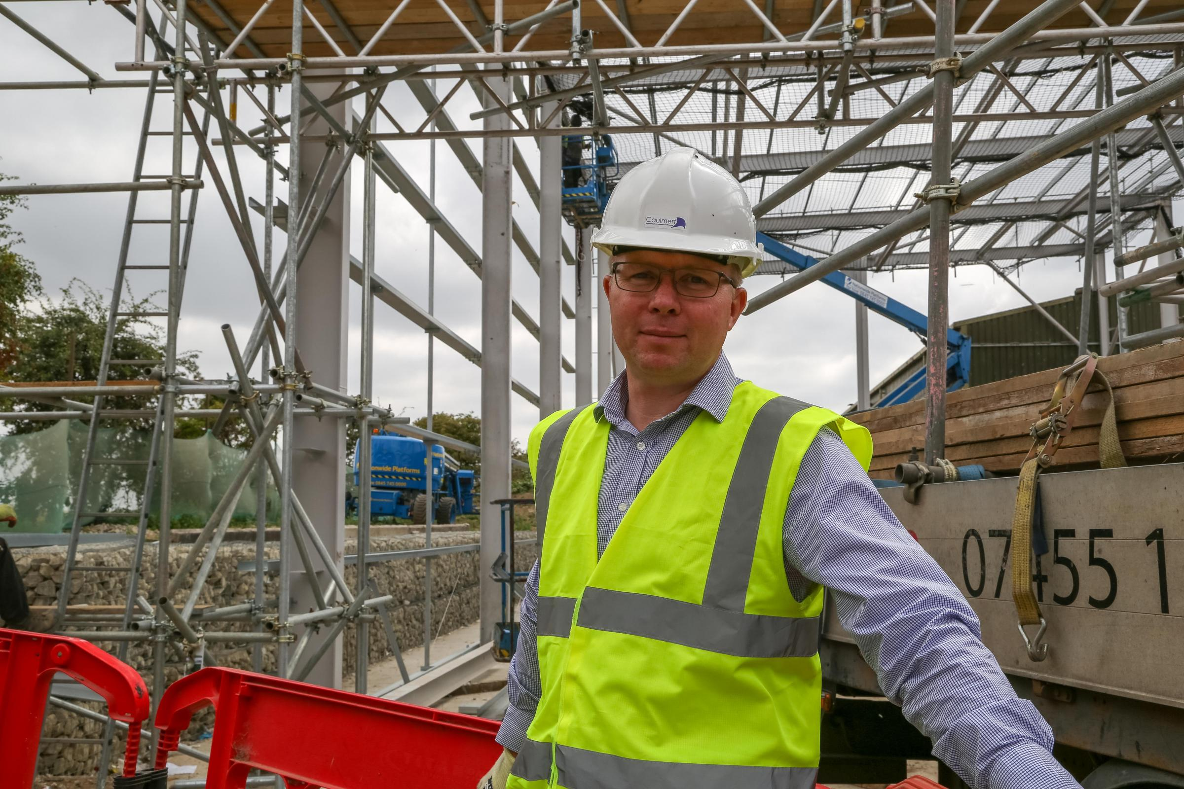 Peter Dawson, associate director of structural engineering at Caulmert, at the Viridor Crayford MRF Fibre Recovery site. Picture: Ruth Knight