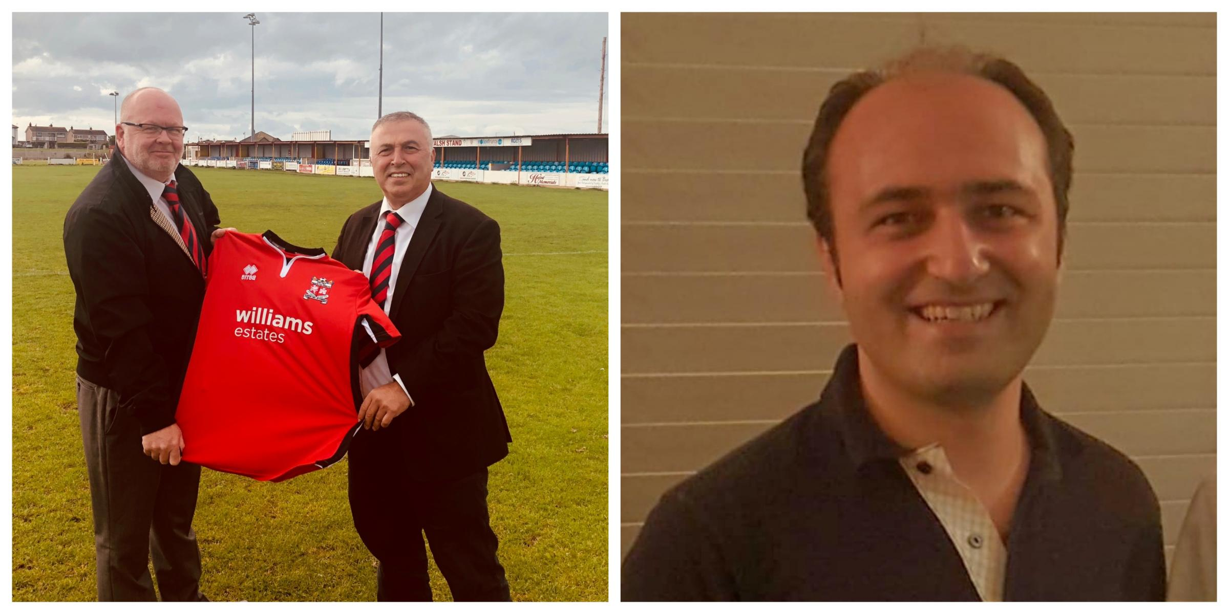 Dave Farrall, Neal and Salih Colakoglu are the new owners of Prestatyn Town