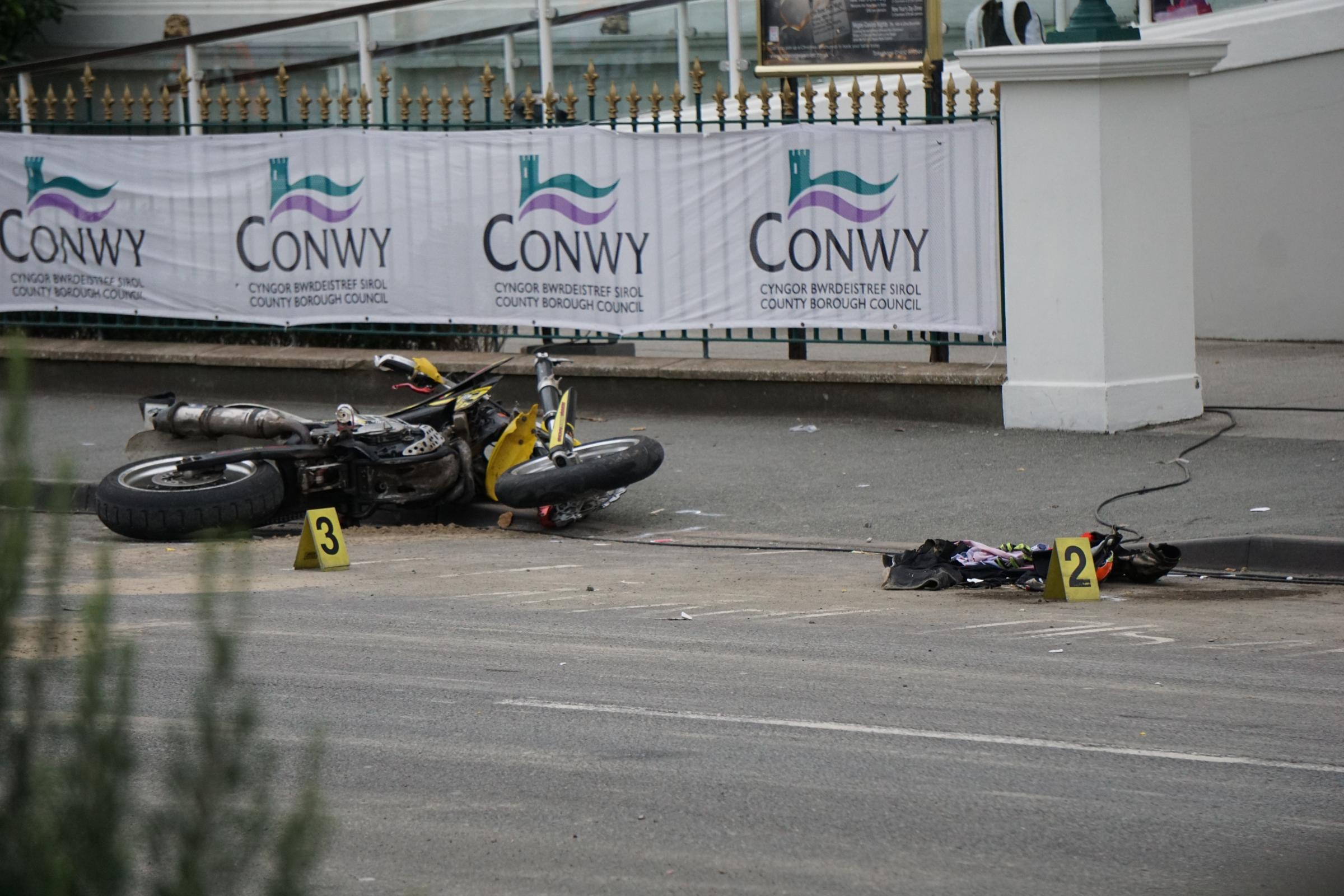 A bike at the scene of the accident. Picture: Patrick Glover