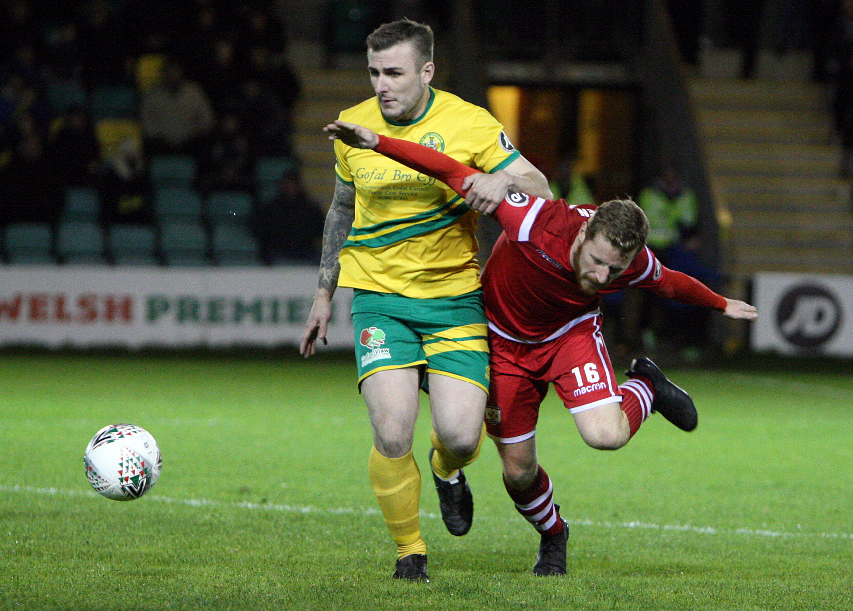 Prestatyn Town lock horns with Caernarfon Town in the JD Welsh Cup this weekend (Photo by Richard Birch)
