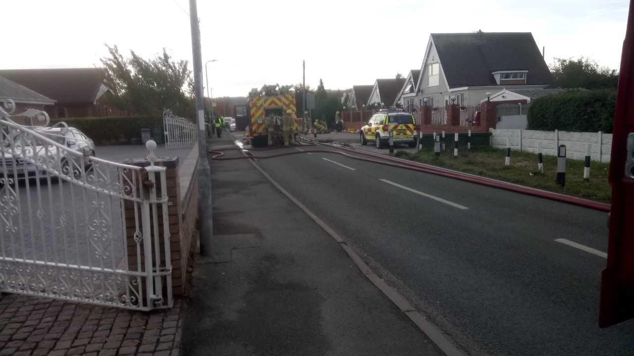 Scene of the incident this morning. Picture: Allan George