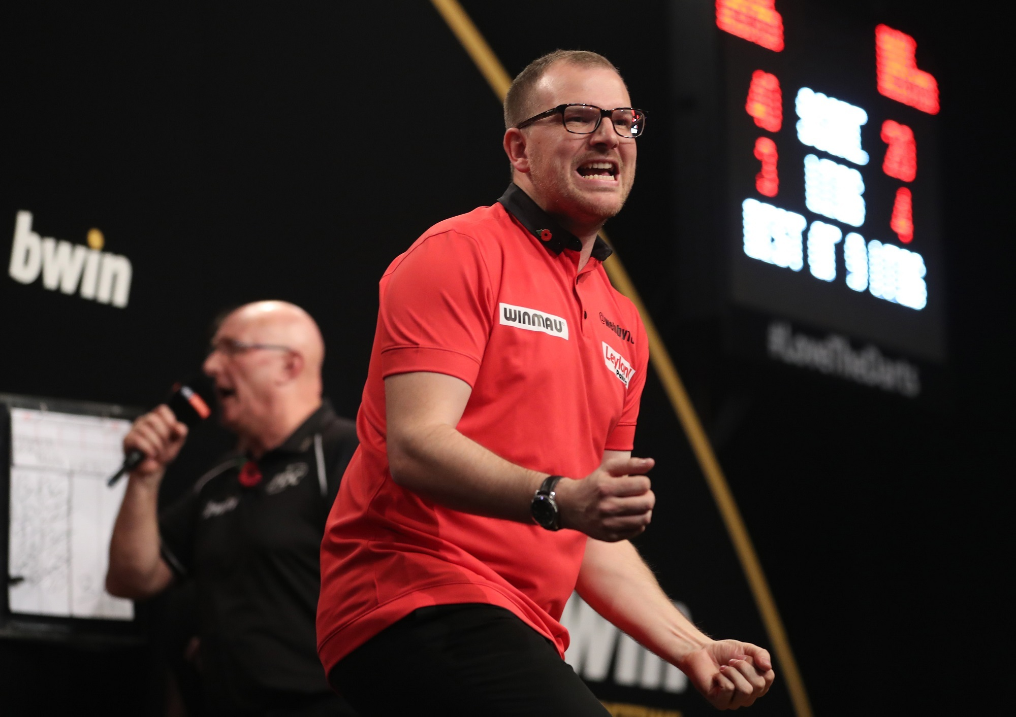 Mark Webster at the 2017 Grand Slam of Darts