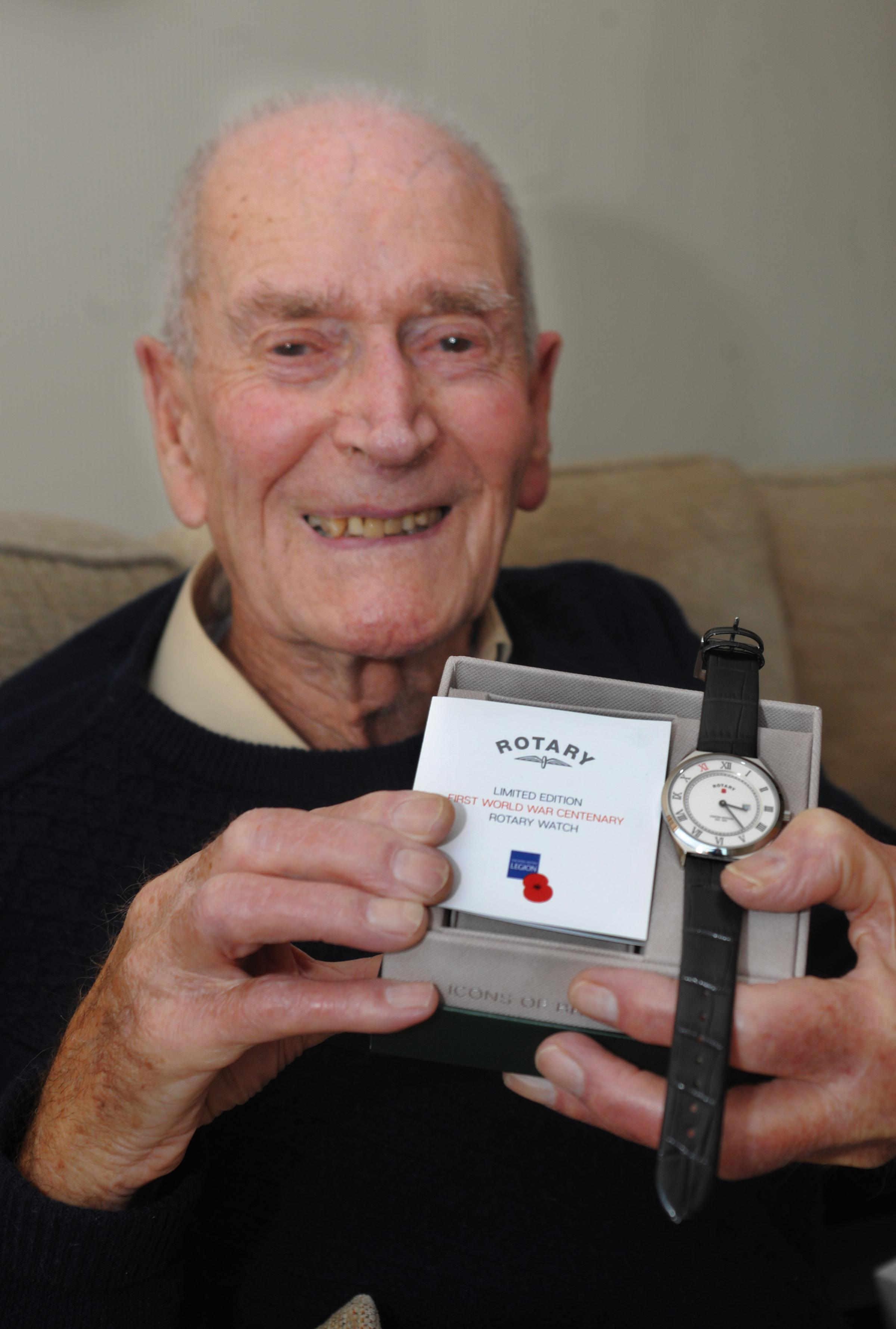 Eric Vaughan with the Rotary watch