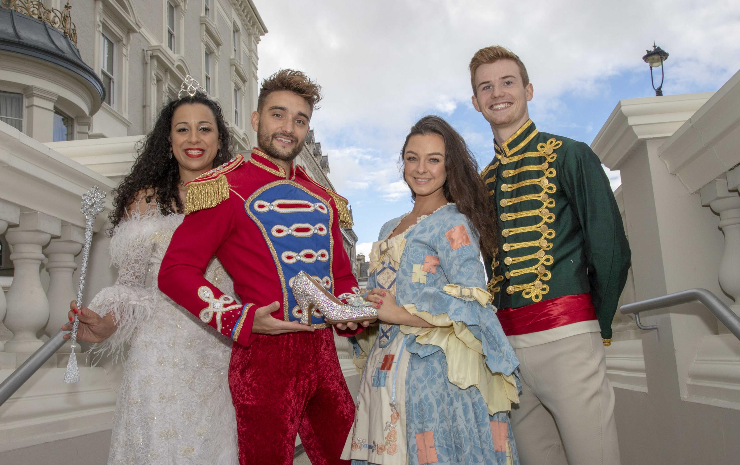 The cast of Cinderella which will be playing at Venue Cymru this Christmas. Picture: Jamie Gilmour