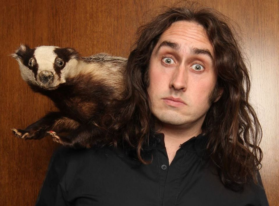 Long haired Geordie surrealist Ross Noble returns. Picture: Facebook/ Ross Noble