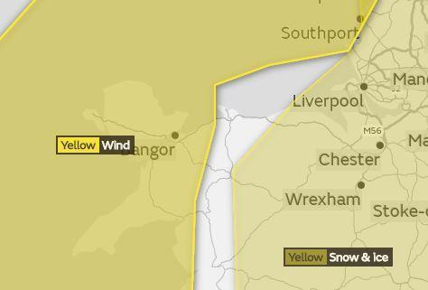 Fresh warnings of strong winds have been issued by the Met OFfice. Picture: Twitter/ Met Office