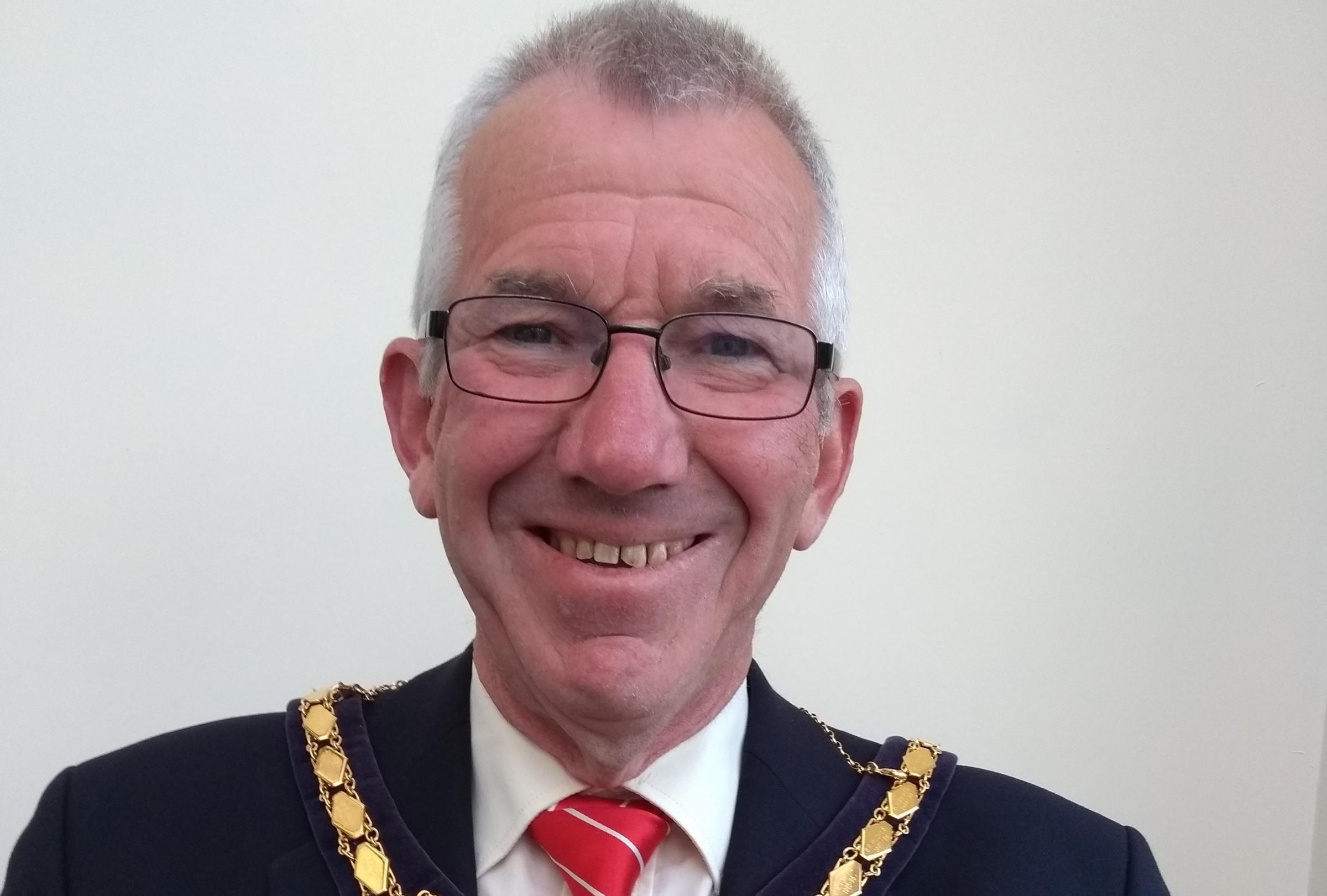 Cllr Gareth Rowlands, mayor of Rhuddlan