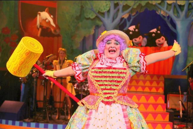 Phylip Harries in Dick Whittington - The Purrrrrfect Panto for Cool Cats and Rockin' Rats! at Theatr Clwyd, Mold