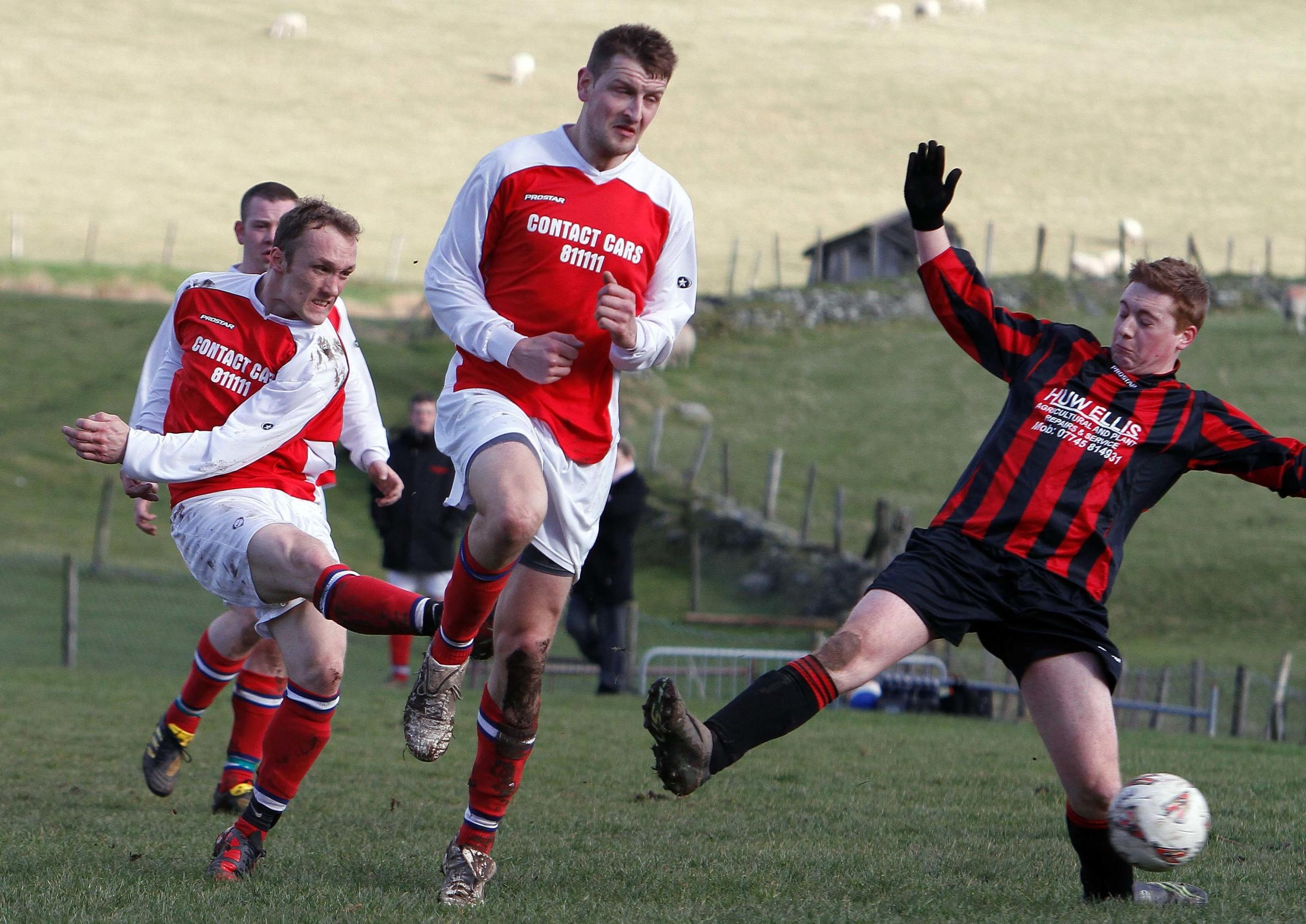 Just two matches survived the weather in the Vale of Clwyd and Conwy League this weekend