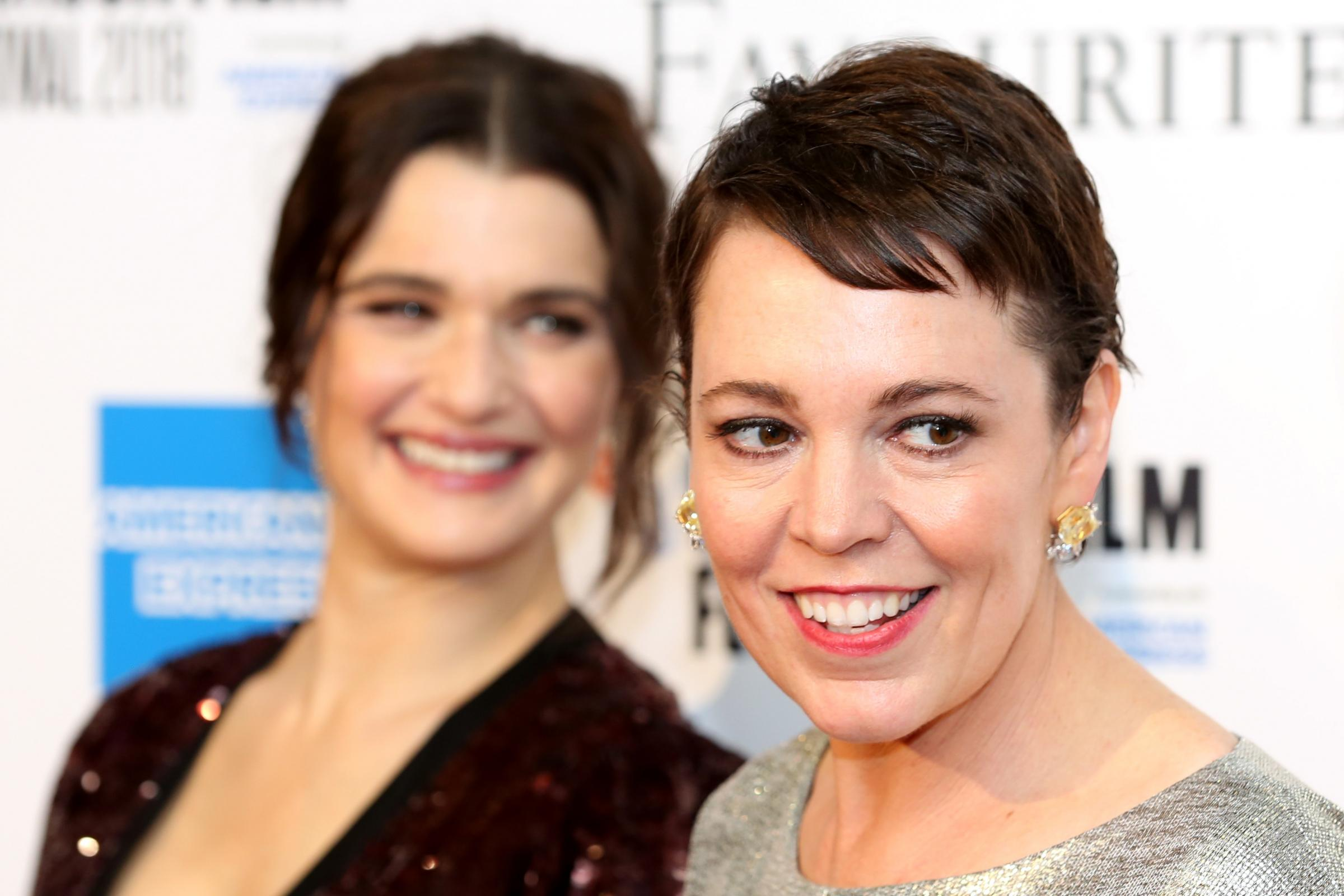 Rachel Weisz and Olivia Colman attending the UK premiere of The Favourite
