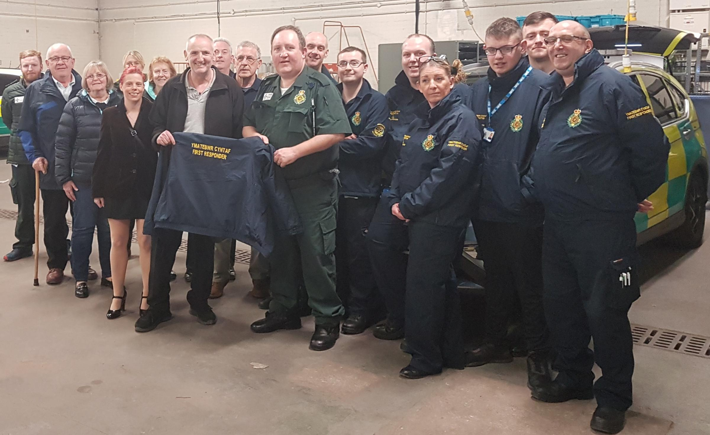 Prestatyn and Rhyl first responders have now got cold weather winter jackets