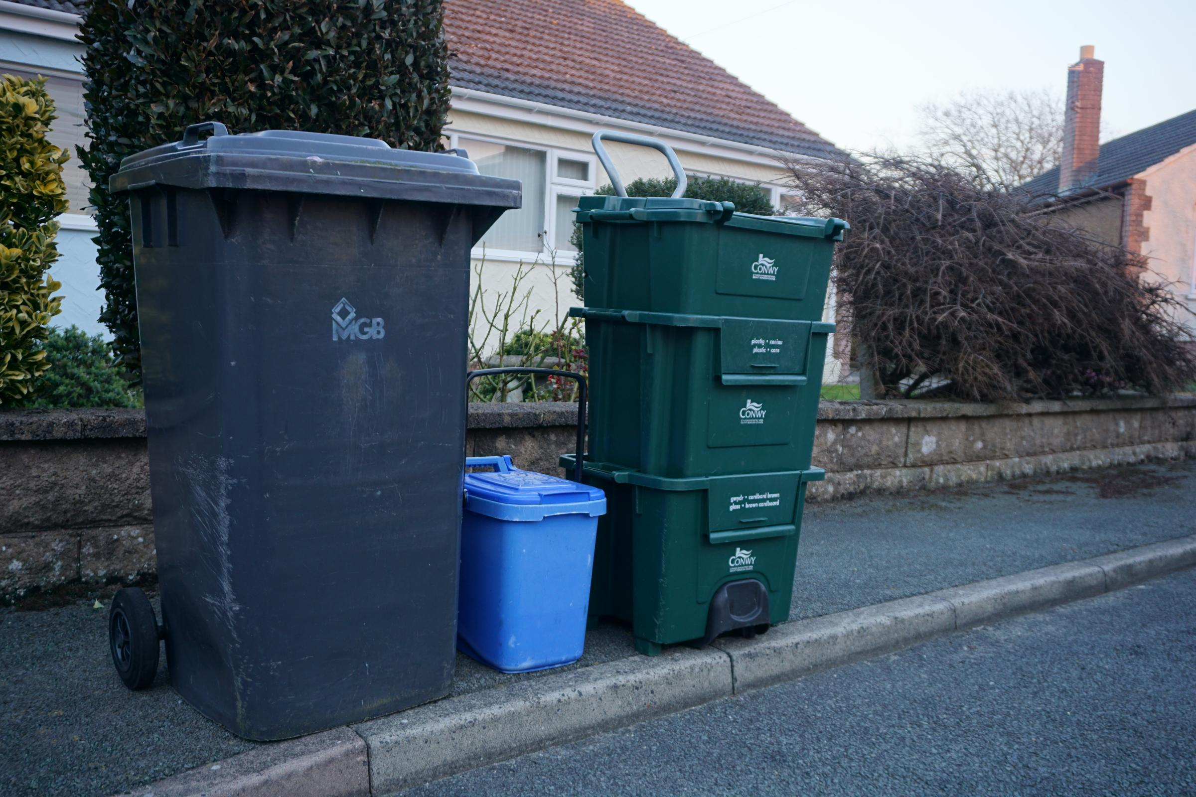 Conwy county bins. Picture: Patrick Glover
