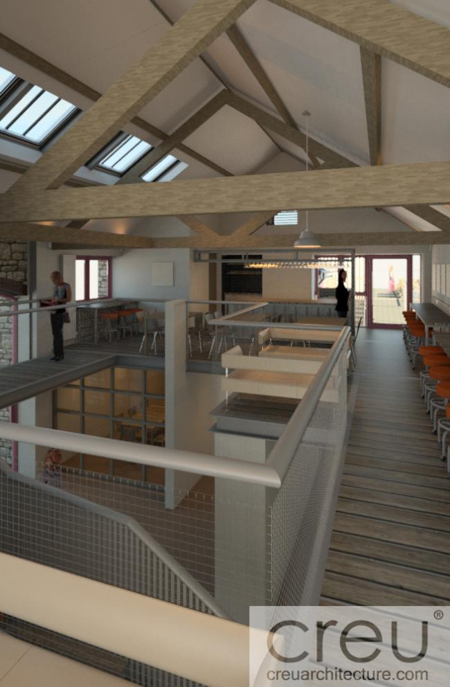 A 60-seater café aimed at residents and visitors to the area is being created