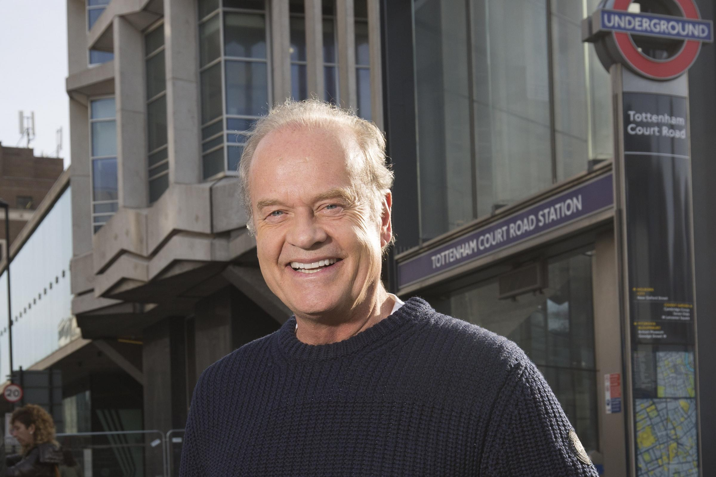 Kelsey Grammer delivered special tannoy announcements to commuters at Tottenham Court Road Station