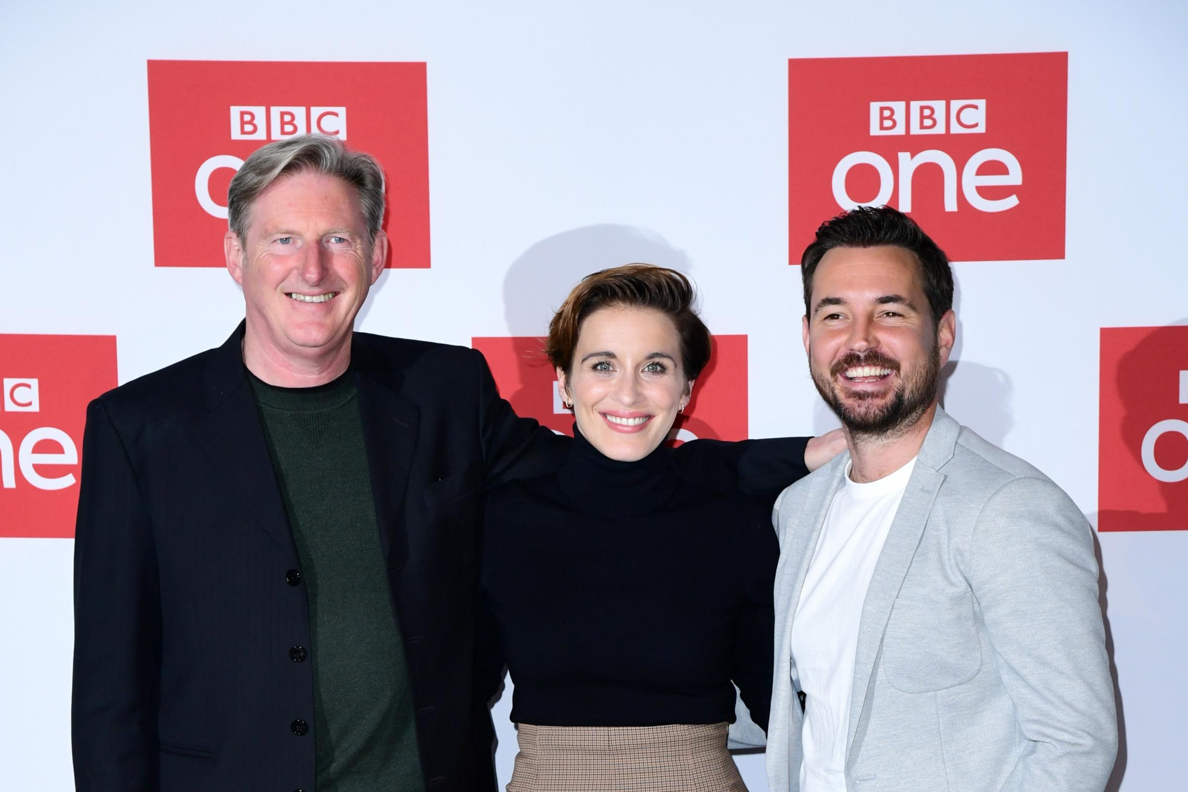 Adrian Dunbar, Vicky McClure and Martin Compston at the Line of Duty Season Five Photocall – London