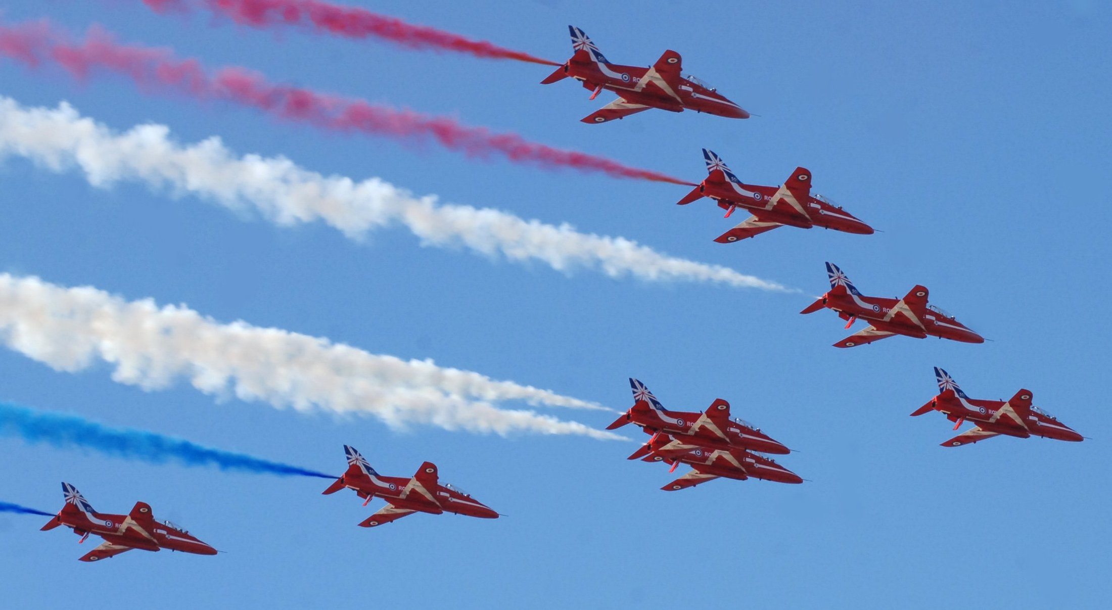 Red Arrows in Rhyl. Picture: Phil Micheu