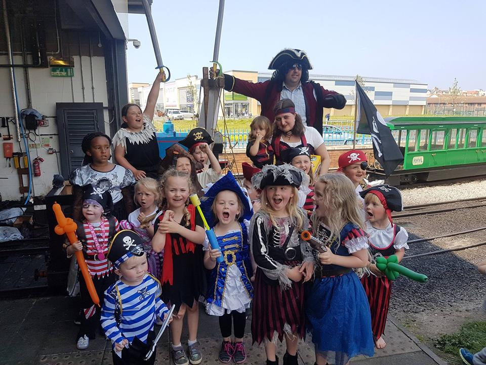 Pirates are set to ravage Rhyl Minitaure Railway for the fourth year this month. Picture: Facebook/ Rhyl Miniature Railway