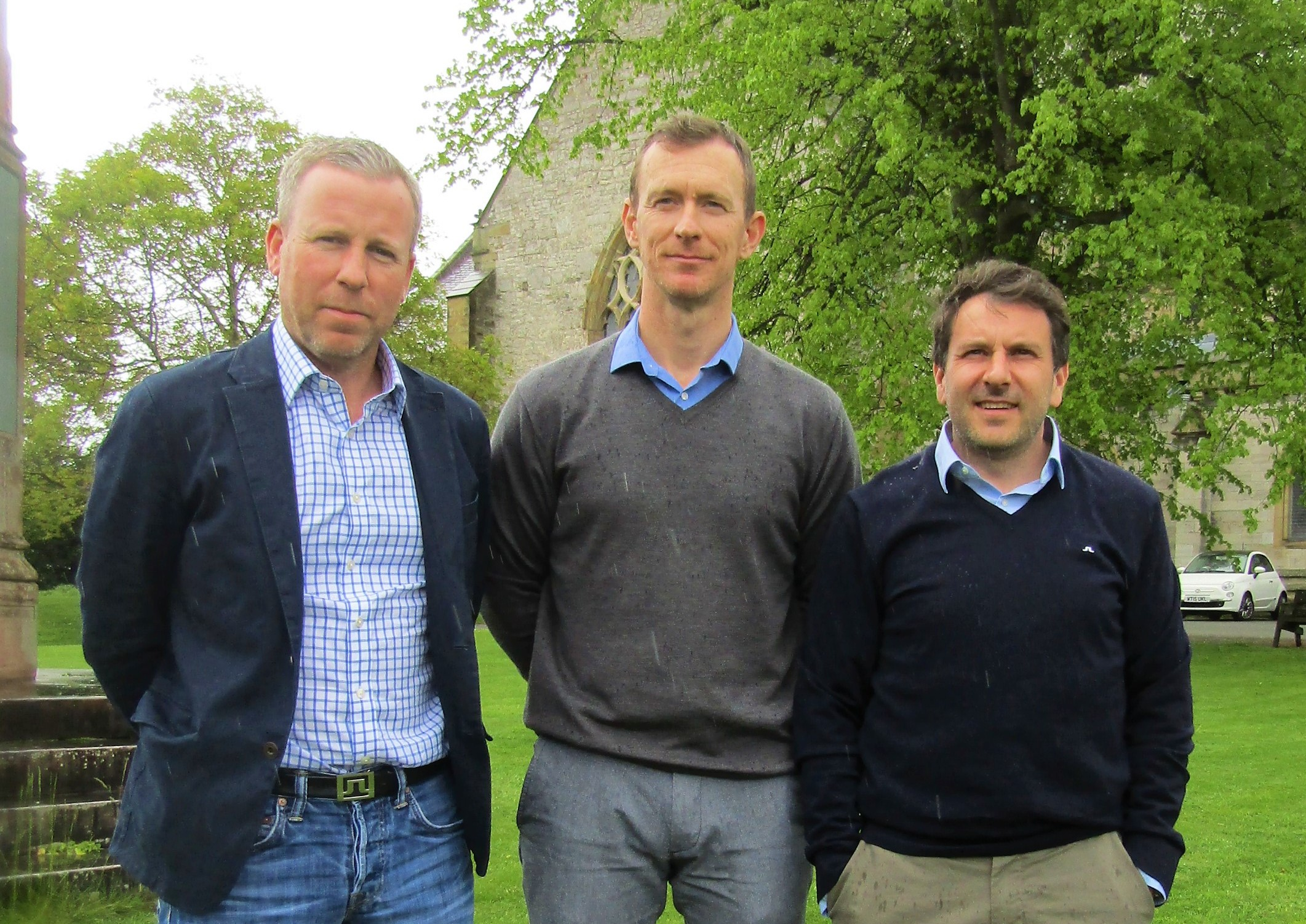 From left: Richard Lloyd Jones, Richard Pape and Gareth Jones.