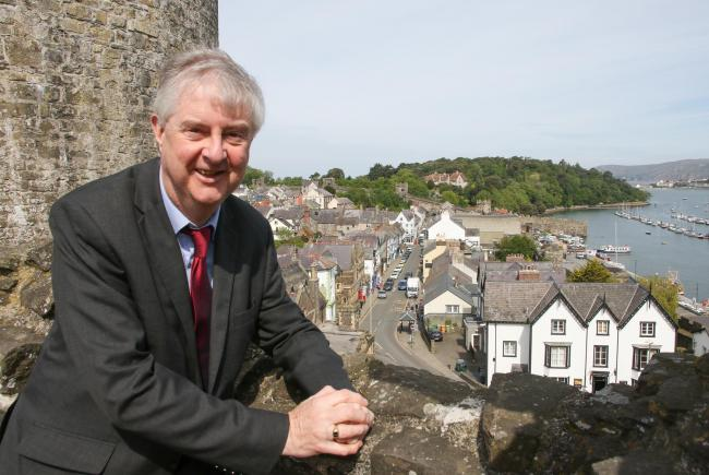 First Minister Mark Drakeford at Conwy Castle. Picture: Kerry Roberts