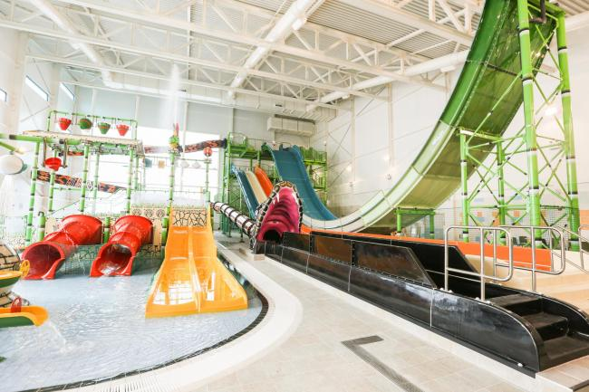 A tour around the completed SC2 leisure centre in Rhyl Pic: The water park. GA140319V.