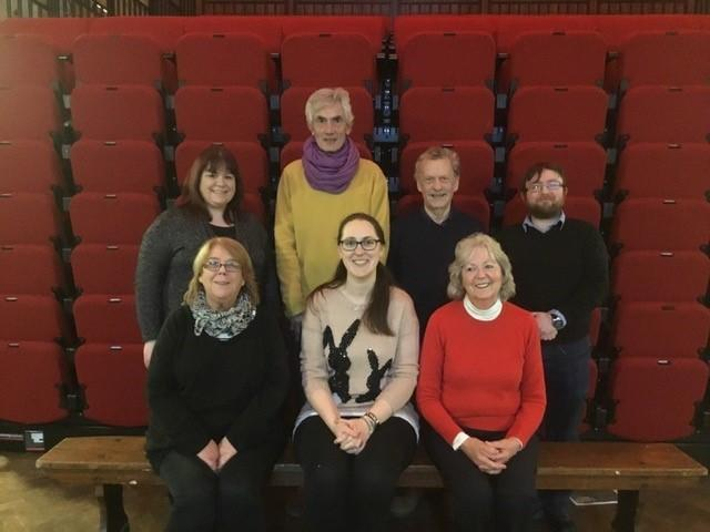 Left to Right - front row - Caroline Tattersall, Beth Owen, Sandra Fraser. back row - Lyn Cuffin, Mike Gould, Andy Littlefield, Stephen Bennett.