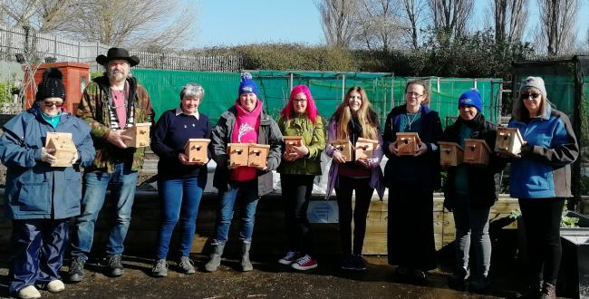 Volunteers have helped build 20 dormouse nest boxes in Prestatyn