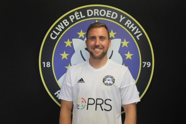 Rhyl FC defender and captain Max Peate