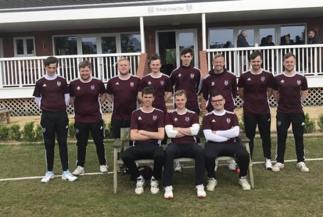 St Asaph's T20 squad before their dramatic win over Mochdre