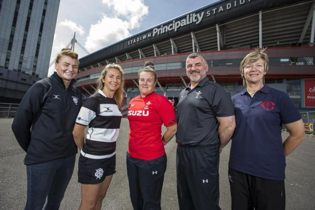 Rachel Taylor (far left) is set to join the Barbarians' coaching staff